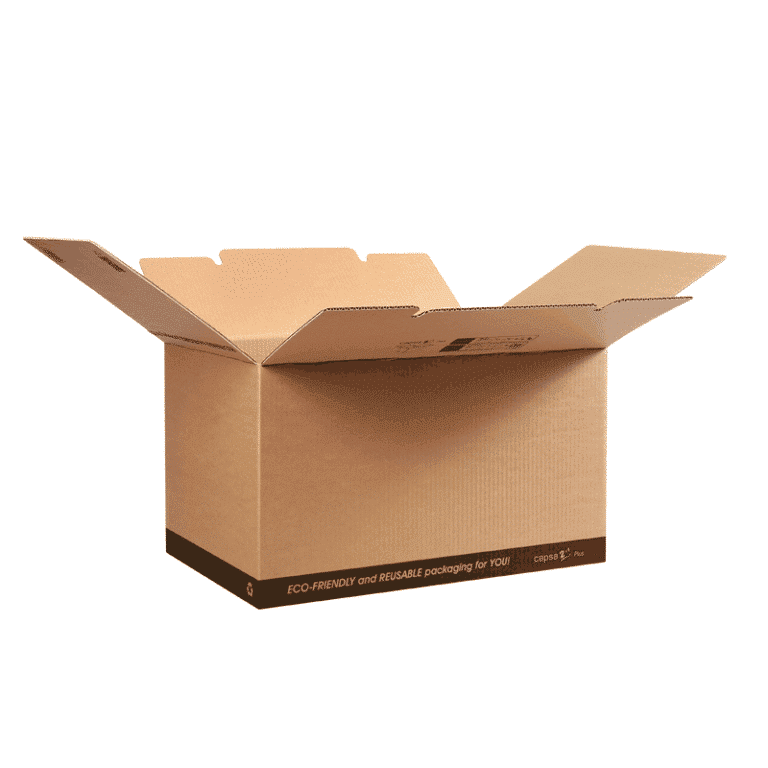 Cajas de cartón reutilizables para almacenaje capsa2in1® Plus